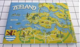 koelkastmagneet plattegrond Zeeland N-ZE1.008
