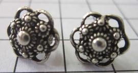 kleine zeeuwse knop oorstekers met oogjesrand ZKO714