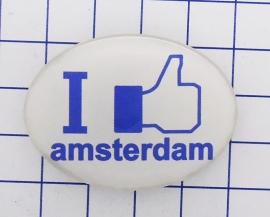 HAM 301 haarspeldje 4 cm, I like Amsterdam