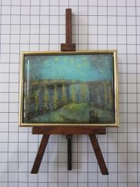 SCH040 schildersezeltje 16 cm hoog Vincent van Gogh sterrennacht