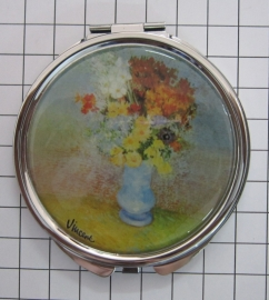 SPI 202 Spiegeldoosje Vaas met Bloemen,  Vincent van Gogh