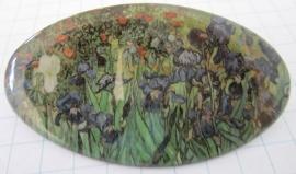 HAO 207 Haarspeld ovaal Irissen Vincent van Gogh