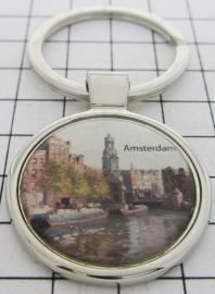 SLE005 Sleutelhanger munttoren Amsterdam
