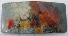 HAR 207 Haarspeld rechthoek bloemetjes Vincent van Gogh