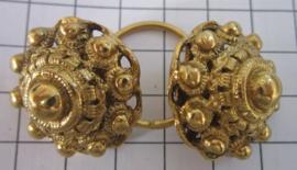 Zeeuwse knoop keelknopen groot ZKK809-G verguld