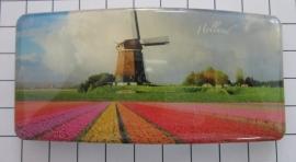 Haarspeld rechthoek HAR306 molen kleurig tulpenveld