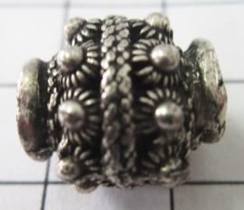 ZB055 Pandora style bedel Zeeuwse knop zwaar verzilverd