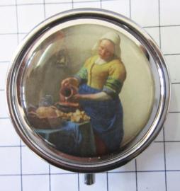 PIL301 pillendoosje met spiegel melkmeisje Vermeer