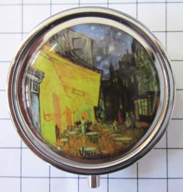 PIL404 pillendoosje met spiegel cafe Vincent van Gogh