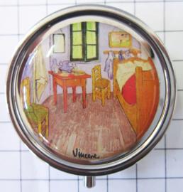 PIL406 pillendoosje met spiegel Kamer Vincent van Gogh