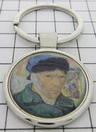 SLE409 Sleutelhanger Zelfportret met oor in verband Vincent van Gogh