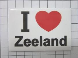 koelkastmagneet I love Zeeland MAC:28.001