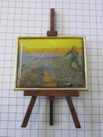SCH 041 schildersezeltje 16 cm hoog Vincent van Gogh veld