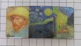 Haarspeld 8 cm rechthoek HAR413 combinatie Vincent van Gogh