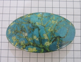Haarspeld ovaal 8 cm HAO 412 witte amandelbloesem Vincent van Gogh