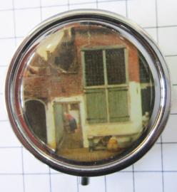 PIL 139 pillendoosje straatje Johannes Vermeer