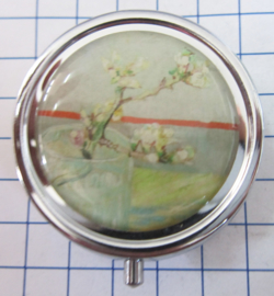 PIL422 pillendoosje met spiegel amandeltak vincent van Gogh
