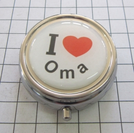 pil 047 pillendoosje met spiegel I love Oma