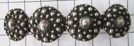 ZKG440 Zeeuwse knopen verzilverd haarspeld 6 cm, made in France haarclip, beste kwaliteit, klemt uitstekend.