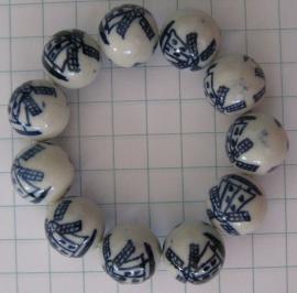 ARM 102 armband handgeschilderde molenkralen delftsblauw