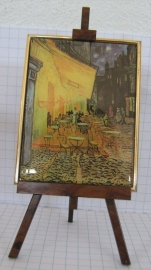 SCH 008 schildersezeltje 22 cm hoog, Vincent van Gogh cafe