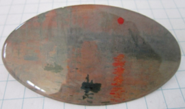 HAO 103 Haarspeld ovaal bootje Claude Monet