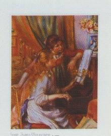 pak 50 stuks Kwaliteitsposters 35 x 45 cm Meisjes Piano -= Auguste Renoir