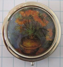 PIL403 pillendoosje met spiegel oranje keizerskroon Vincent van Gogh
