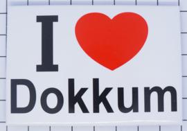 koelkastmagneet I ♥ Dokkum N_FR11.001