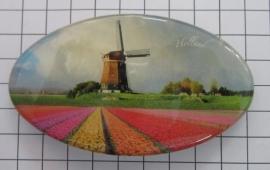 Haarspeld ovaal HAO 306 molen gekleurd tulpenveld
