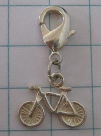 CLI 023 clip met fietsje zwaar verzilverd