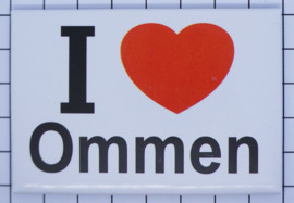koelkastmagneet I ♥ Ommen N_OV7.001