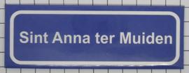 koelkastmagneet plaatsnaambord Sint Anna ter Muiden P_ZE9.4001