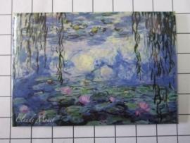 MAC: 20.451 Koelkast magneet Claude Monet waterlelies