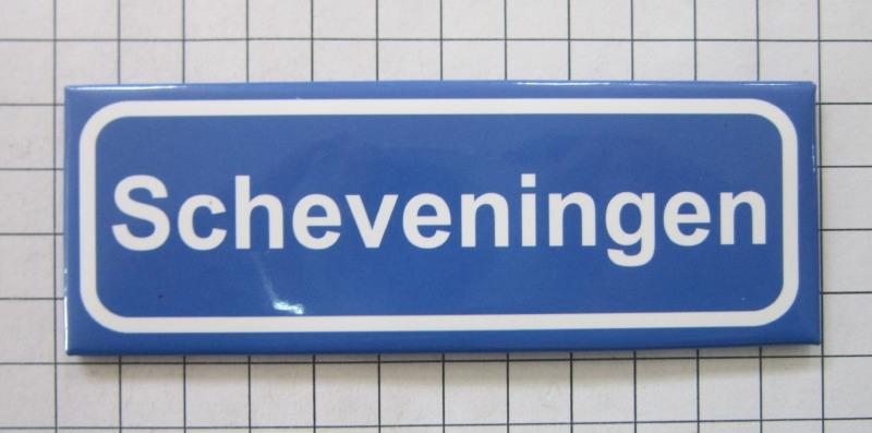 koelkastmagneet plaatsnaambord Scheveningen P_ZH9.0001 | Zuid Holland |  Kunstkado