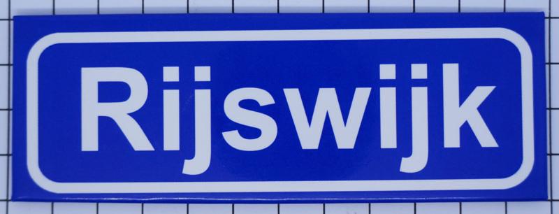 koelkastmagneet plaatsnaambord Rijswijk P_ZH11.0002 | Zuid Holland |  Kunstkado