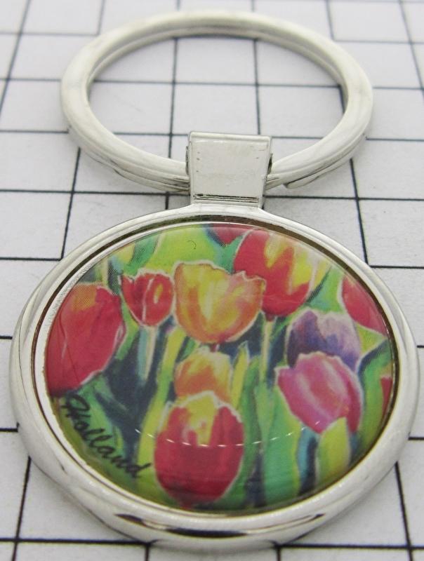 SLE103 Sleutelhanger kleurige tulpen