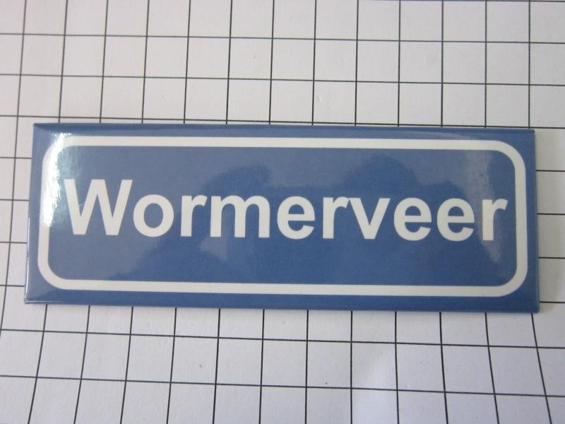 202 Magneet plaatsnaambord Wormerveer | Noord Holland | Kunstkado