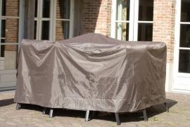 Beschermhoes `Luxe` voor tuinsets, afmeting Ø 260 x H 85 cm, kleur taupe