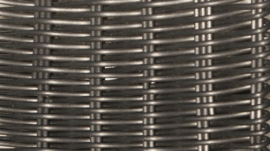 wicker hocker 'Pamplona' zwart - rond vlechtwerk
