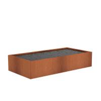 Cortenstaal vijver 'Granada' 250x125x40 cm