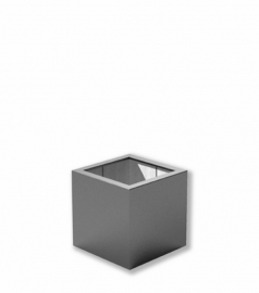 Luxe polyester plantenbak `Cubo` 400x400x400mm