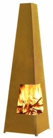 Terrashaard Chacata Cortenstaal, afmetingen L37 x B37 x H122 cm