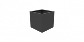 Aluminium plantenbak `Rubik` 800x800x800mm