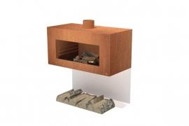 Tuinkachel/BBQ Onek Cortenstaal Wandmodel L100xD50xH50 cm