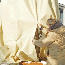 Mega vlieshoes  B200 x H240 cm PREMIUM QUALITY - Extra sterk 140 gr/m kleur: beige