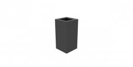 Aluminium plantenbak `Rockefeller` 400x400x800mm
