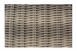 wicker bijzettafel 'Cadiz' naturel  - rond vlechtwerk