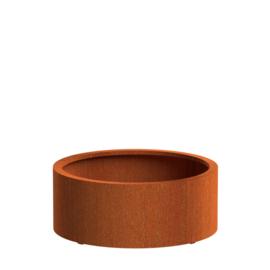 CorTenstaal plantenbak `Arrondi` Ø1000 x 400mm