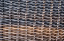 5-delige wicker Loungeset 'Salamanca' bruin - rond vlechtwerk - 7 persoons